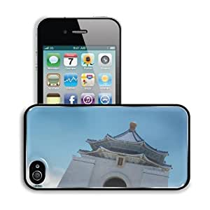 Architecture Taiwan Taipei Temple Structure Apple iPhone 4 / 4S Snap Cover Premium Aluminium Design Back Plate Case Customized Made to Order Support Ready 4 7/16 inch (112mm) x 2 3/8 inch (60mm) x 7/16 inch (11mm) MSD iPhone_4 4S Professional Metal Cases