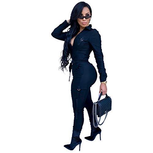 870b6cbc6221 Amazon.com  Mintsnowin Women s Sexy Deep V Neck Long Sleeve Party Clubwear  Bodycon Romper Jumpsuit with Belt  Clothing