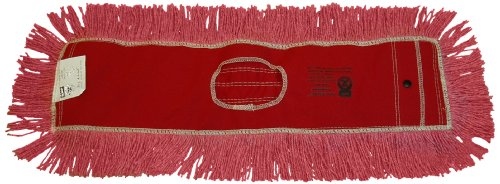 Zephyr 12436 Pro-Blend Red Dust Mop Head, 60'' Length x 5'' Width (Pack of 6) by Zephyr