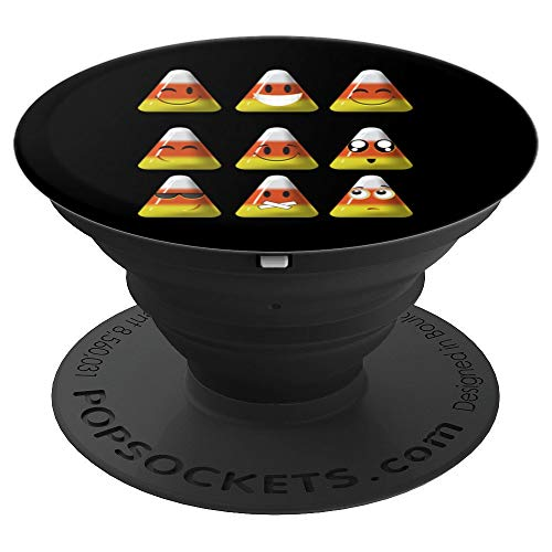 Candy Corn Emojis Halloween Art Cool Funny Emoticons Gift - PopSockets Grip and Stand for Phones and Tablets ()