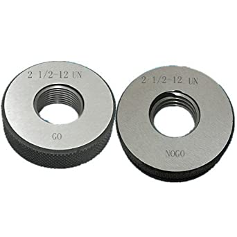 2 1/2-12 UN Thread Ring Gage 2A GO NOGO 100% Calibrated ship by