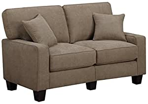 """Serta RTA Palisades Collection 61"""" Loveseat in Fawn Tan"""