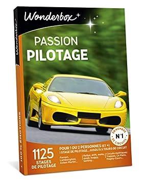 d02229f7652a Wonderbox – Coffret cadeau homme PASSION PILOTAGE – 1125 stages de pilotage  Ferrari, Lamborghini,