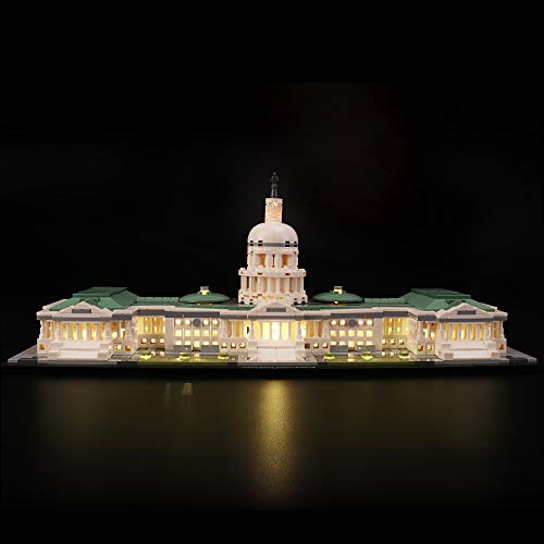 LIGHTAILING Light Set for (Architecture United States Capitol Building) Building Blocks Model - Led Light kit Compatible with Lego 21030(NOT Included The Model) from LIGHTAILING