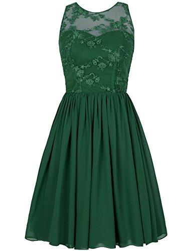 Escarpado Aplique oscuro Paseo de Verde Cord¨®n Vestidos Capucha formales Fiesta Vestidos Corto Dama honor HUINI 5qE6wU1
