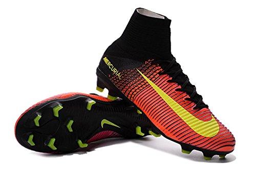 3065515e917a Men s High Ankle Soccer Shoes Nike Mercurial Superfly V FG Orange-Pink US  9.5 - EUR 43 - Buy Online in UAE.