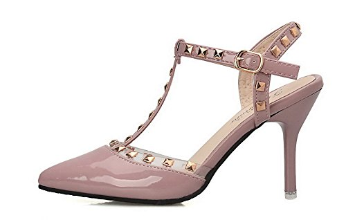 lakleer sandalen Gmxla007245 hak hoge neus gesloten roze dames jurk Agoolar aZW7wq5PxW