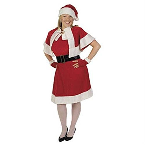 Santa Helper Mrs Claus Dress Costume Adult Plus 16-20 Womens Holiday Christmas (Mrs Claus Plus)