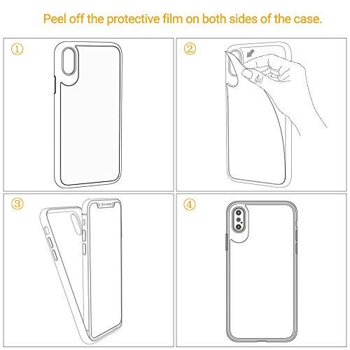 [Funziona la ricarica wireless] iPhone X Custodia, EasyAccTrasparente Sottile Antisdrucciolevole Case Cover e Antigraffio Bordo in Morbido TPU e Retro in Protettivo Acrilico Indietro Rigido e Antiurto