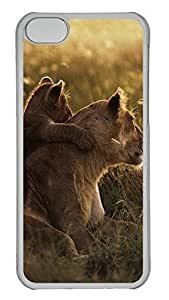 TYHde iPhone 5/5s Case African Lions Pictures PC iPhone 5/5s Case Cover Transparent ending