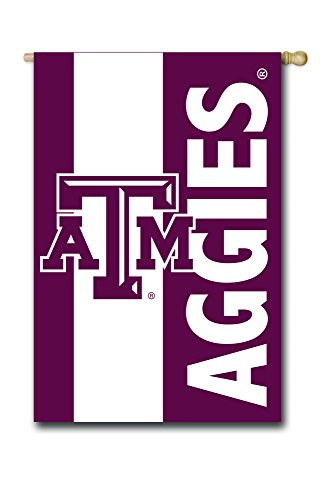 Team Sports America Texas A&M Outdoor Safe Double-Sided Embroidered Logo Applique House Flag, 28 x 44 inches