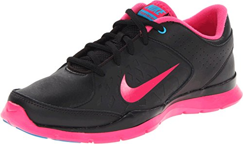 Nike Women's CORE Flex WMNS Training Shoes 9 Women US (Black/Pink Force/NEO Turq)
