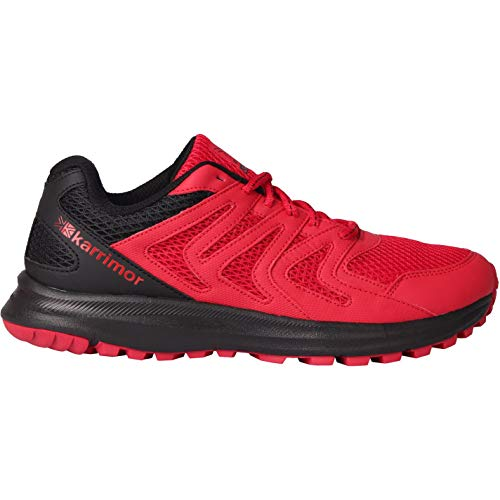 Karrimor Mens Caracal Trail Running Shoes Runners Lace Up Breathable Padded Red/Black UK