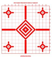 100-Yard Precision Rifle Target (50) (Paper Targets For Sighting In A Rifle)
