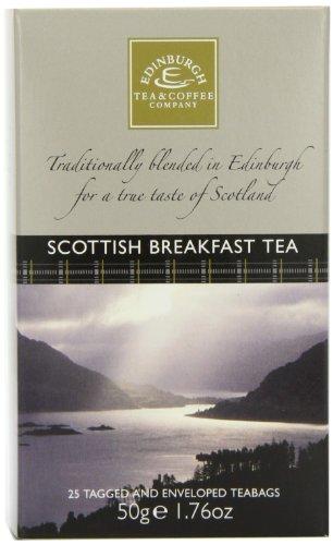 Edinburgh Tea & Coffee Company Scottish Breakfast Tea - 25-Count (Envelope/Tagged), 1.76-Ounces (Pack of 4)