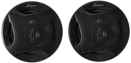 Lanzar Upgraded Standard 5.25'' 3 Way Triaxial Speakers - Full Range Sound 240 Watts and 4 Ohms Impedance Injection Cone 80 - 20 KHz Frequency Response and 10 Oz Magnet Structure - MX52 by Lanzar