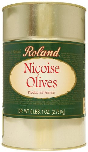 Roland Nicoise Olives from France, 97-Ounce Can