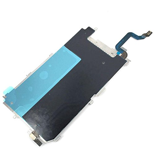 Screen LCD Back Metal Plate Shield with Home Button Expand Flex Cable for IPhone 6 (4.7'') (Lcd Flex Cable)