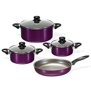 BEEM Germany F3001.105 - Batería de cocina (7 piezas), color violeta