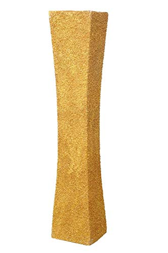 Buy Limelight Home Decor Wood Flower Vase 12 X 12 X 60 Cm Gold Online At Low Prices In India Amazon In