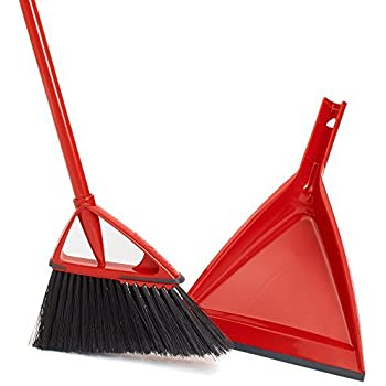 Amazon Com Oskar Angle Broom With Dust Pan Home Amp Kitchen