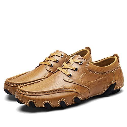 Primavera Conducción Juvenil Moda Lyzgf Y Yellow Zapatos De Suave Perezosos Verano Cuero Casual TxOZwnt