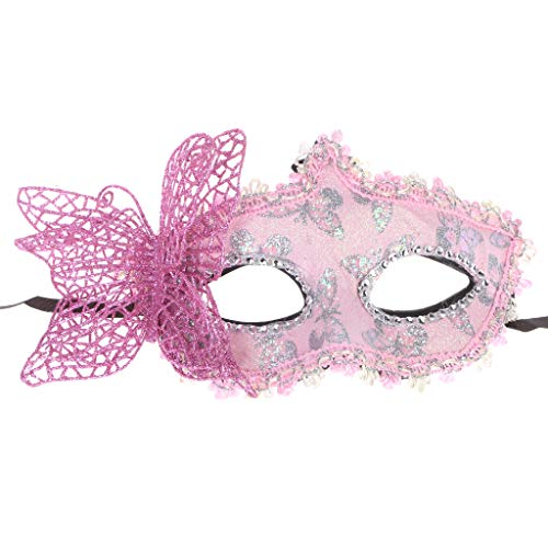 YDZN Butterfly Bow Mask Half Mask for Girls
