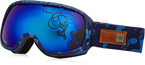 Roxy Rockferry Torah Bright Snow Goggles, Rooibos Tea/Botanic Stripes, One Size (Roxy Goggles)