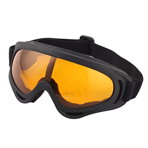 Snowboarding Black Frame Amber Color Uni Lens Goggles by Como