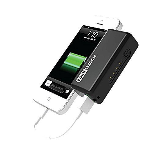 Tzumi Pocket Juice External Battery Pack (Black) 2200 mAh Output Portable Power Bank USB Charger Compatible with iPhones, Samsung Galaxys, Androids, Tablets and other Mobile Devices