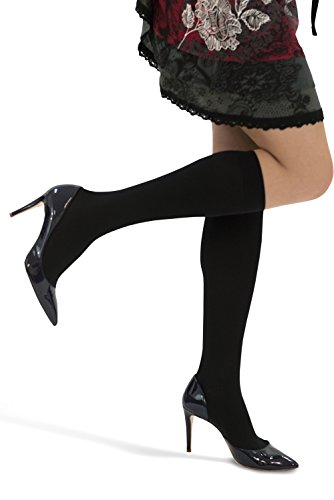 - MAXAR Unisex Air Flight Travel Dress Compression Support Socks for Men and Women, Nurses, Blood Circulation Stockings - Prevents Swelling, Pain, Tiredness, Edema, 12-15 mmHg, H-170 2X-Large Black