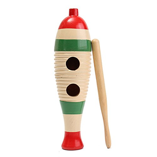 CynKen Wooden Guiro Fish-Shaped Kid Children Musical Toy Gift Percussion Instrument - Fish Shaped Guiro