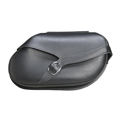 Dowco Willie & Max 59479-00 Revolution Series: Small Hard Mount Synthetic Leather Belted Motorcycle Saddlebag Set, Black, 30 Liter ()