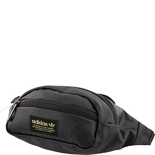 adidas Originals National PU Leather Waist Pack, Black Pu Le