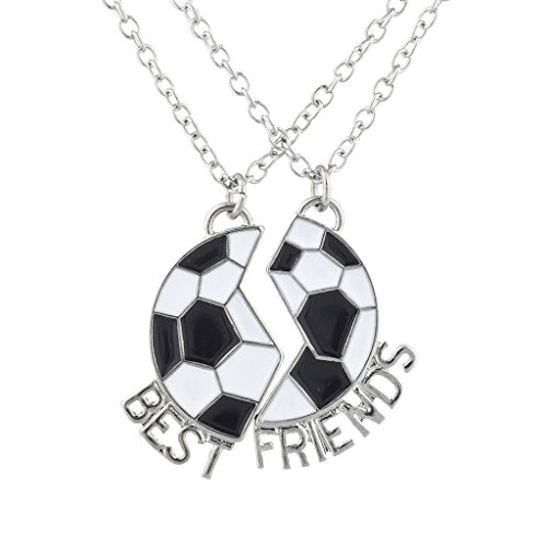 Lux Accessories Silver Tone Soccer Sports Best Friends