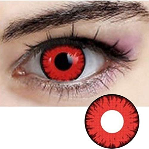 Women Multi-Color Colored Cute Charm and Attractive Fashion Contact Lenses Cosmetic Makeup Eye - Contact Red Halloween For Lenses