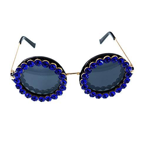 Gu Bleu Lady's Conduite Sunglasses Peggy Beach Couleur Crystal de Voyage Ronde UV la Protection pour Summer Forme Multicolore Td1qvUv4