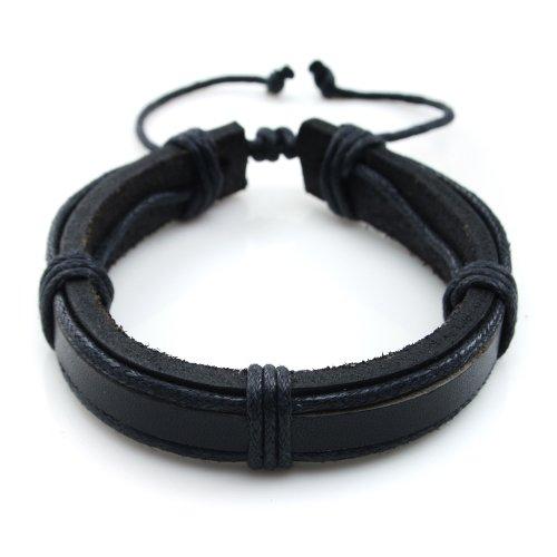 JewelrieShop Handmade Leather Bracelet Adjustable