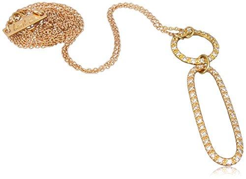 Bardi - Circle / Oval Necklace in Rose Gold (18 Karat) with Diamonds (0.36 Carat)