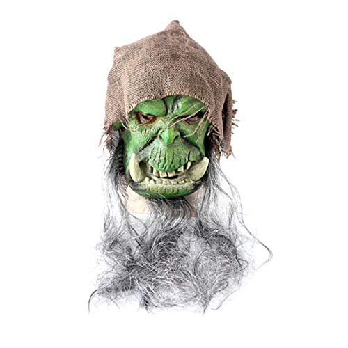 Hot Game Orc Gul Dan Shaman Magician Cosplay 3D Latex Mask]()