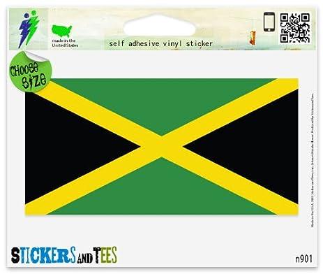 Jamaica jamaican flag vinyl car bumper window sticker 3