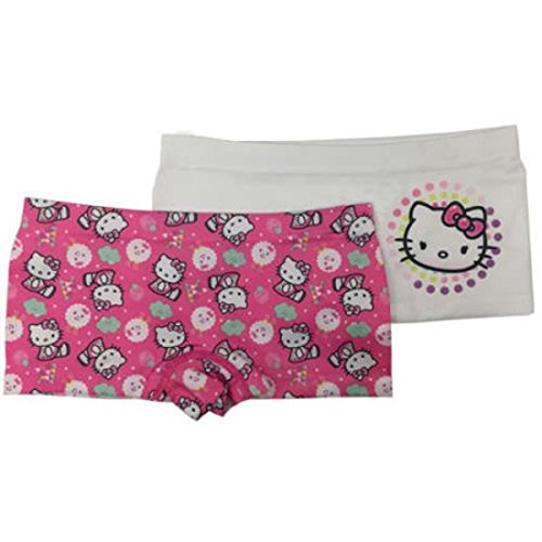 SANRIO Hello Kitty Set Of 2 Boyshort Undies Size Medium + Hello Kitty Rubber Bracelet (Bracelets (Hello Kitty Boyshort Panty)