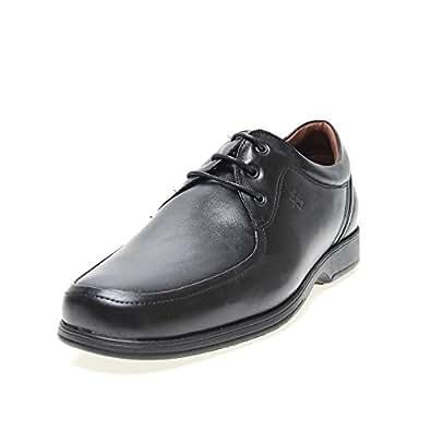 Zapatos Pitillos 4001 - Blucher Piel Negro hombre, color negro, talla 45: Amazon.es: Zapatos y complementos