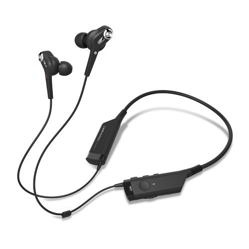 Audio-Technica ATH-ANC40BT QuietPoint Active Noise-Cancelling Bluetooth Wireless In-Ear Headphones by Audio-Technica