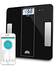 Bluetooth Smart Body Fat Scale Body Composition Monitor,Digital Bathroom Scale Including Body Fat,Body Weight,Muscle Mass, Bone Mass,BMR,Water