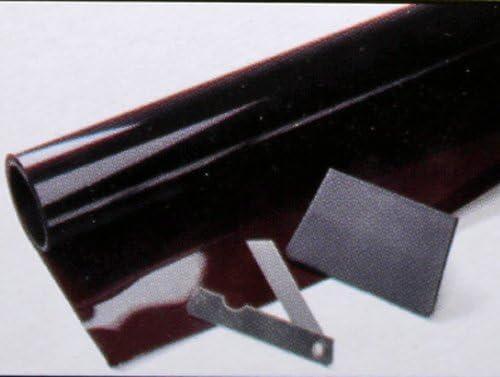 Unbekannt Sonnenblendenfolie 1 5 M Grau Schwarz Sonnenblende Tönungs Schutz Folie Auto