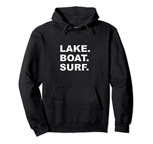 LAKE BOAT SURF Hoodie Sweatshirt Wakesurf Wake Board for sale  Delivered anywhere in USA