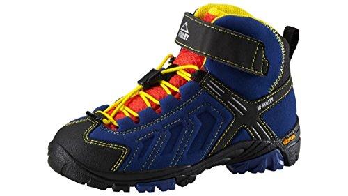 Bleu Enfant Dunkelblau Makalu Mixte KINLEY Trekkingstiefel Hautes MC de Chaussures AQX Schwarz 000 Randonnée Gelb pAvfPzq