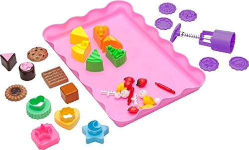 Kinetic Sand Molds and Tools Kit - 37 Piece Baking Theme Kinetic Sand Molds and Tray + Sand Art Tools for Moon Dough Brookstone Magic Sand and More