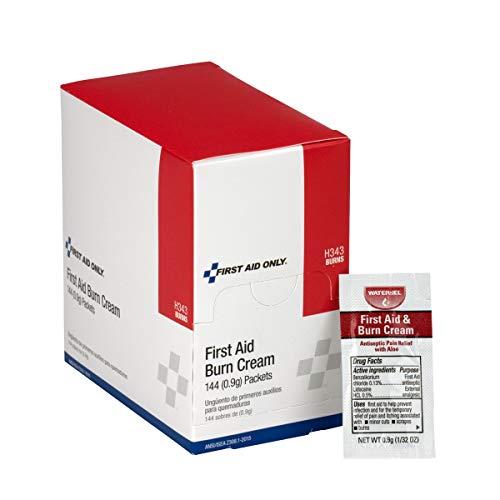ANSI Compliant First Aid Burn Cream, 144 Per Box - Emergency Kit Trauma Kit First Aid Cabinet Refill